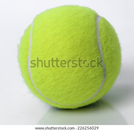 Tennis ball on a white background