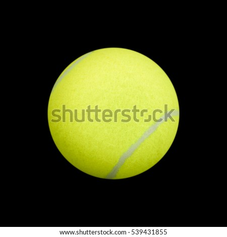 tennis ball on black background. tennis ball isolated. green color tennis ball.