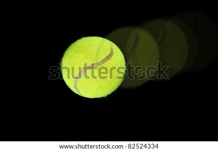 Tennis ball on high speed