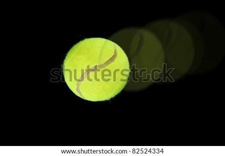 Tennis ball on high speed - stock photo