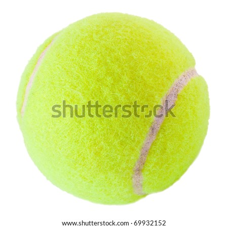 Tennis  ball on the white