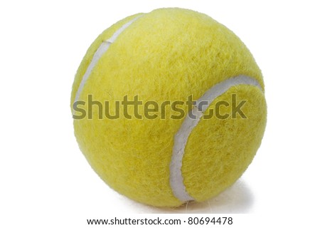 tennis ball on white background - stock photo