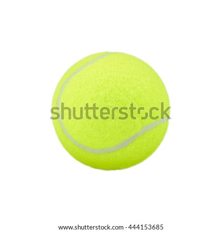 tennis ball on white background. green color tennis ball isolated.