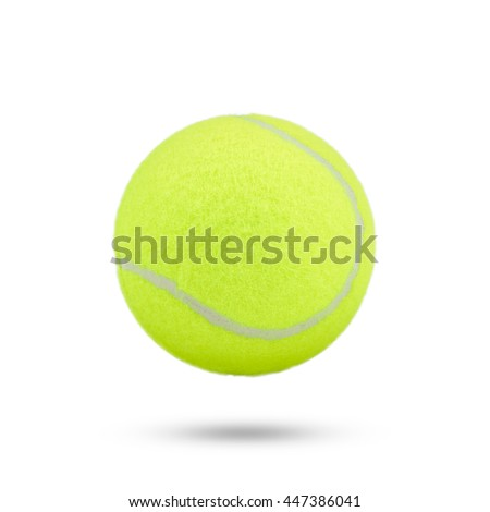 tennis ball on white background. green color tennis ball isolated.  - stock photo