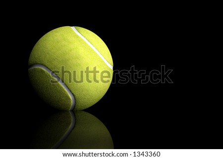 tennis ball over black background - 3d illustration