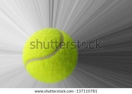 Tennis ball with action - stock photo