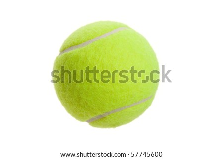 Tennis Ball with white background - stock photo