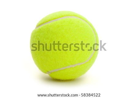 Tennis Ball with white background