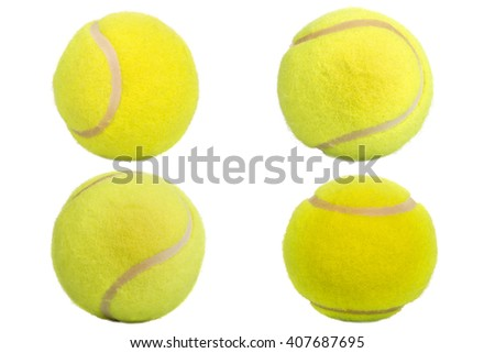 Tennis balls isolated on white background - stock photo