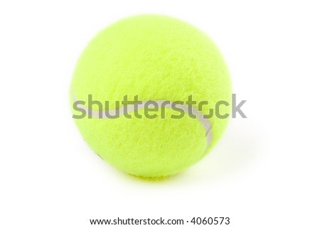 tennis balls with white background