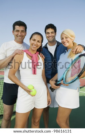 Tennis Buddies - stock photo