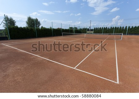 Tennis clay courts for tournaments