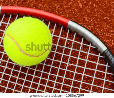 Tennis conceptual image - stock photo