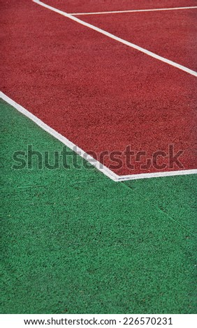 Tennis court. Tennis playground. - stock photo