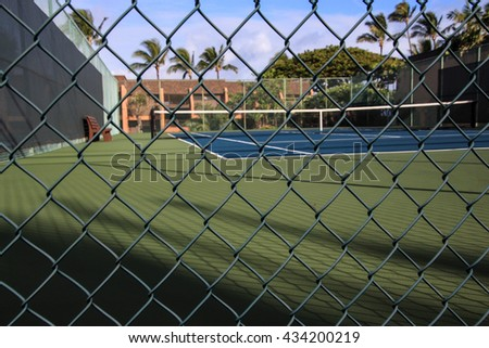 Tennis court - viewed from the ground level
