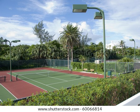 Tennis courts - stock photo