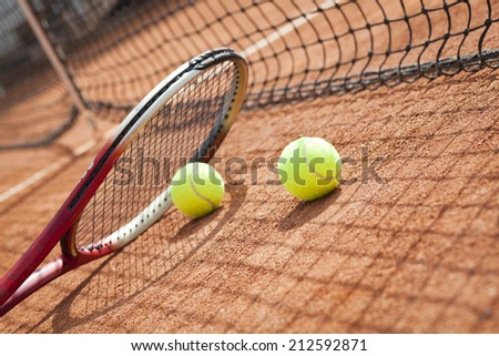 tennis equipment - stock photo