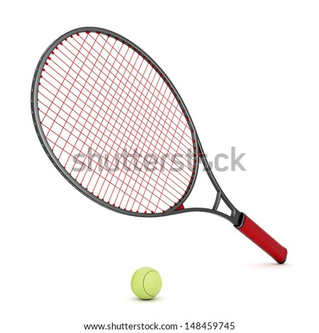 tennis equipment isolated on a white background