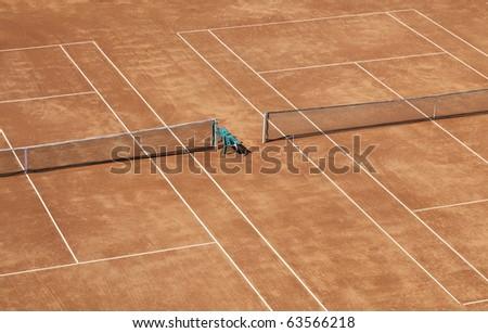 Tennis field - stock photo