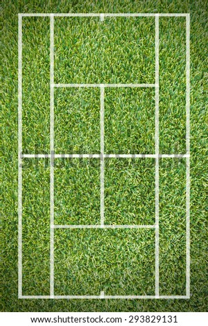 Tennis grass court - stock photo