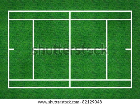 tennis grass field with grass texture.  background template for design work - stock photo