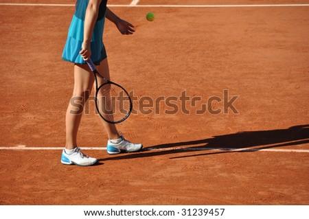 Tennis match - stock photo