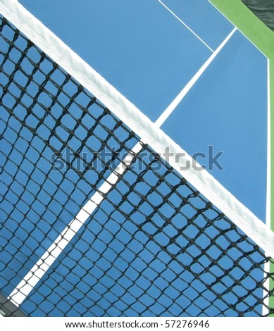 tennis net and alley - stock photo