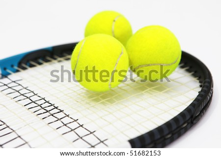 Tennis on white background - stock photo