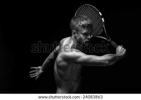 tennis player - stock photo