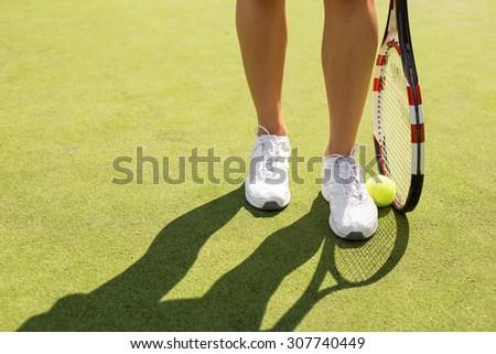 Tennis player - stock photo