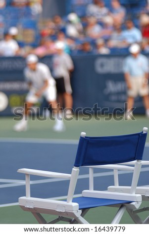 Tennis: Player's Chair - stock photo