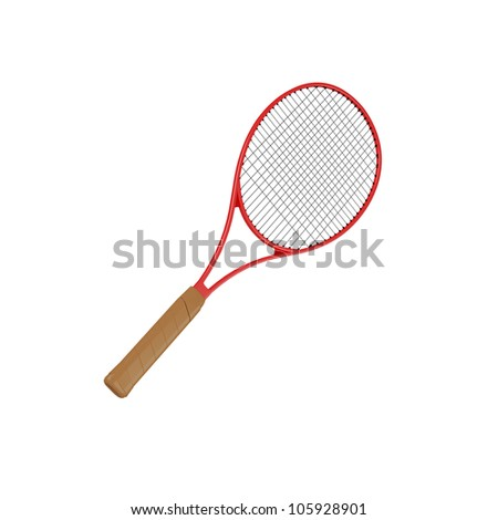 Tennis racket, isolated on white