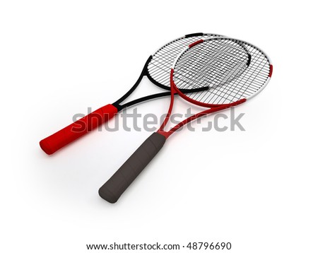 Tennis racket isolated on  white