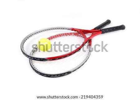 tennis racket isolated on  white background - stock photo