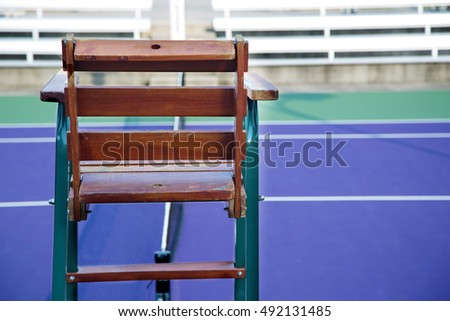 tennis ref chair