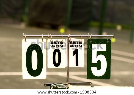 Tennis score board - stock photo