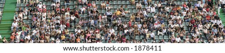 Tennis Spectators on the stands - stock photo