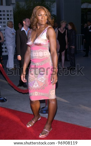 Tennis star SERENA WILLIAMS at the world premiere, in Hollywood, of Catwoman. July 19, 2004