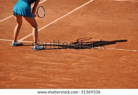 Tennis woman - stock photo