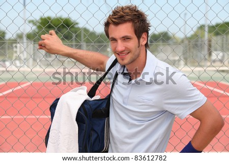 Tennisman - stock photo