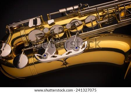 Tenor Sax Close Up - stock photo