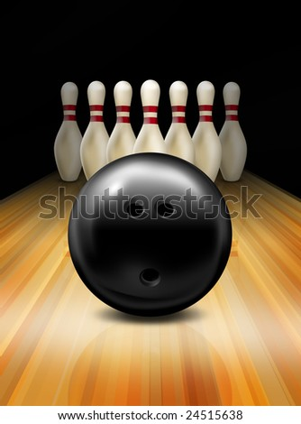 Tenpin Bowling - stock photo