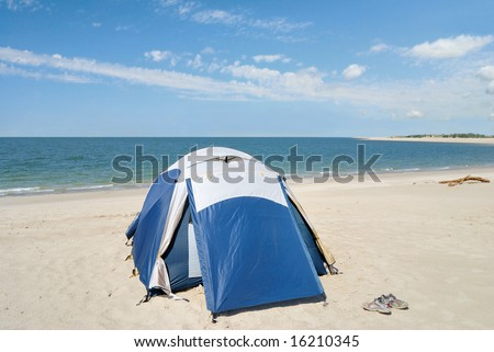 Tent Camping On The Beach