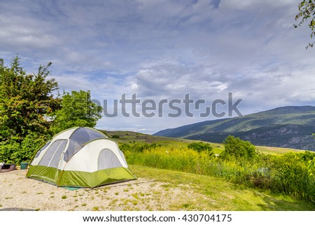 Tent for Camping Setup - stock photo