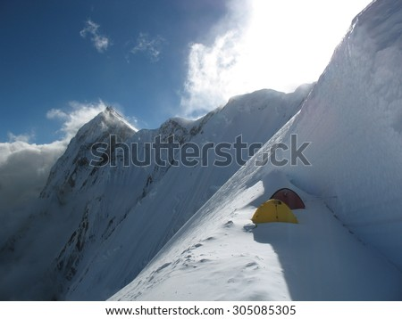 tent in mountain