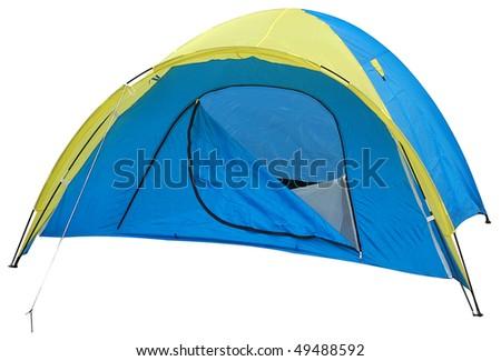 Tent. Isolated - stock photo