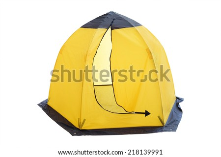 Tent isolated under the white background - stock photo