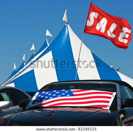 Tent Sale Event - stock photo
