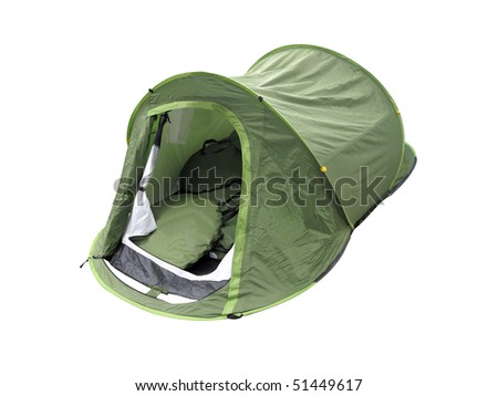 tent under the white background - stock photo