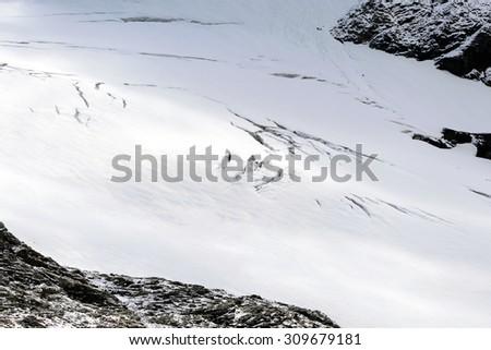 Teodulo glacier - 3,100 m.a.s.l. - Aosta Valley - stock photo